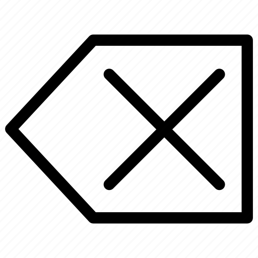 arrow, attentions, cancel, delete, erase, instruction, remove icon