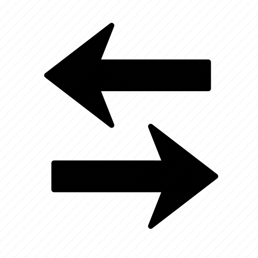 arrow, direction, exchange, pointer, replace, right, way icon