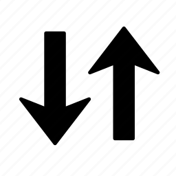 arrow, down, swap, up icon
