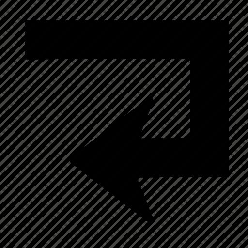 Arrow, back, direction, sign, turn, u turn icon - Download on Iconfinder