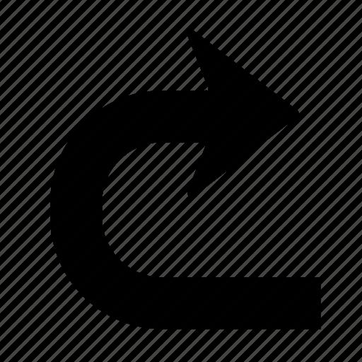 Arrow, right, direction, forward, turn, u turn, u-turn icon - Download on Iconfinder