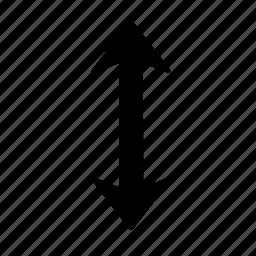 arrow, down, far, up icon