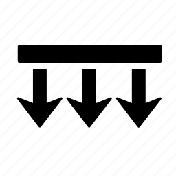 arrow, box, direction, down, go, move, navigation icon