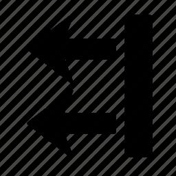 arrow, box, direction, go, left, location, move icon