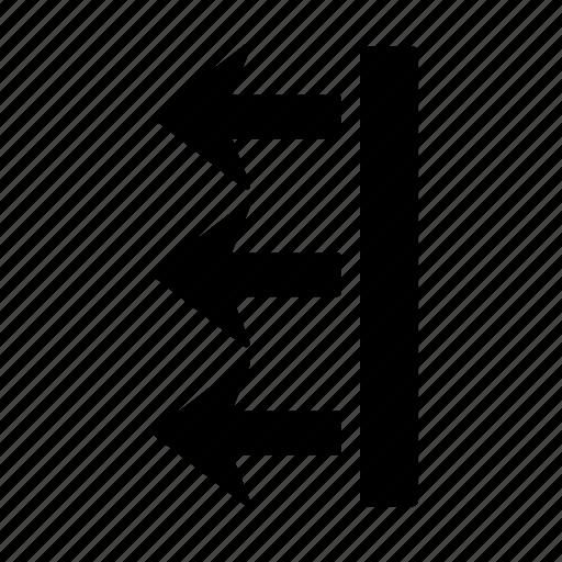 arrow, box, direction, finish, go, left, move icon