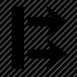 arrow, box, direction, go, move, next, right icon