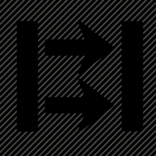 arrow, box, direction, go, right icon