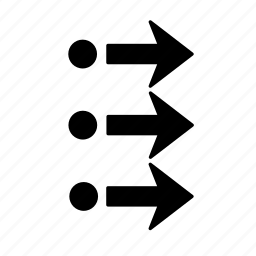 arrow, chnage, location, move, position, right icon