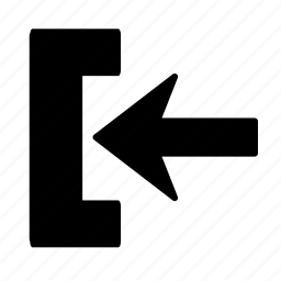 arrow, go, in, left icon