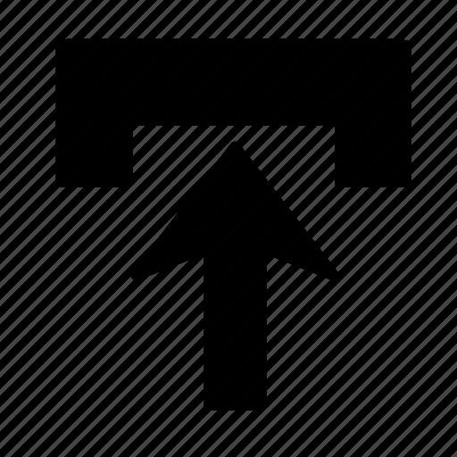 arrow, go, in, up icon