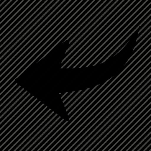 arrow, backward, direction, left, move, previous, reply icon