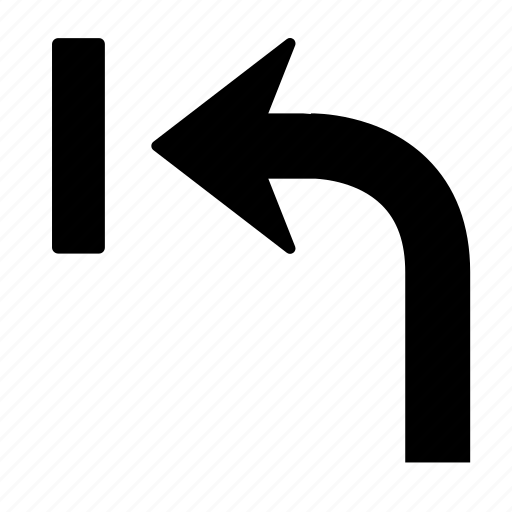 arrow, back, direction, left, turn, u turn, u-turn icon