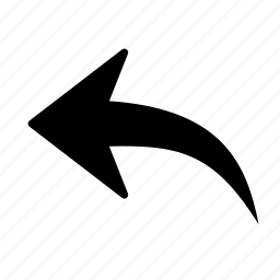 arrow, backward, direction, leftt, move, previous, reply icon