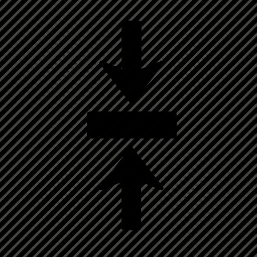 arrow, box, clash, collision, impact, jar, jostle icon