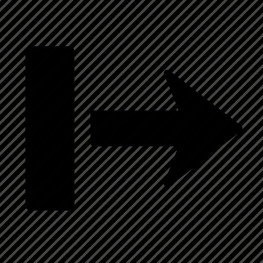 arrow, box, direction, go, move, navigation, right icon