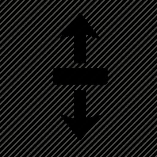 arrow, direction, divide, move, section, splinter, split icon