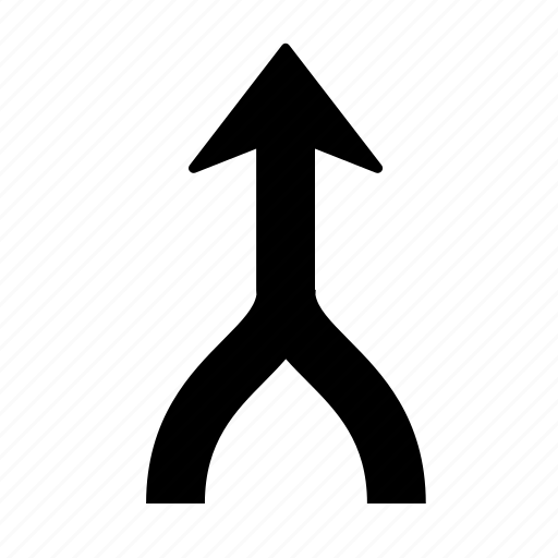 arrow, join, up icon