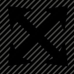 arrow, corners, direction, expand, handler, move icon