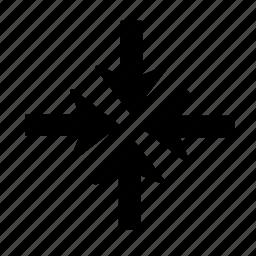 arrow, shrink icon