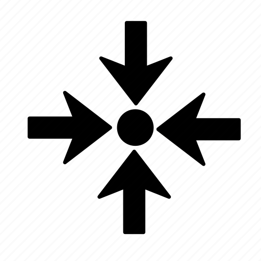 Arrow, dot, shrink icon - Download on Iconfinder
