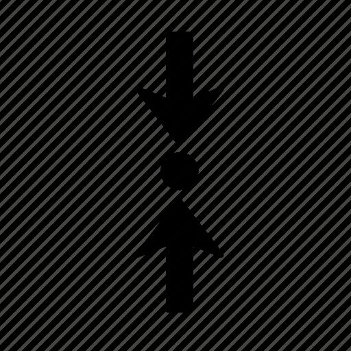 arrow, clash, collision, direction, impact, jar, jostle icon