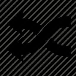 arrow, conjunction, shuffle icon