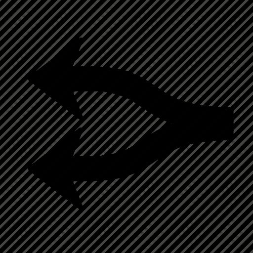 Arrow, direction, divide, map, navigation, section, splinter icon - Download on Iconfinder