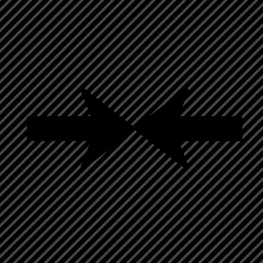 arrow, clash, collision, conflict, disagreement, discrepancy, incongruity icon