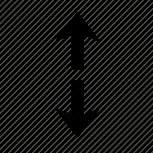 arrow, direction, divide, section, splinter, split, up icon