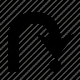 arrow, direction, navigation, right, turn, u turn, u-turn icon