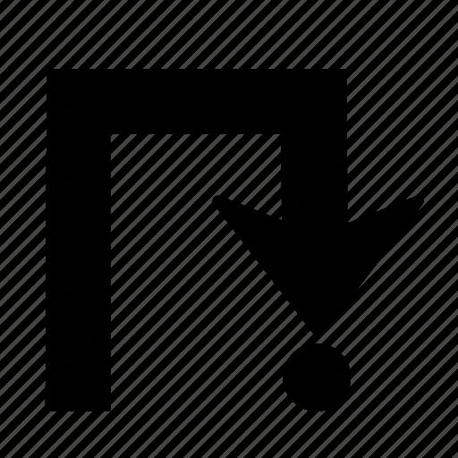 Arrow, right, back, direction, turn, u turn, u-turn icon - Download on Iconfinder