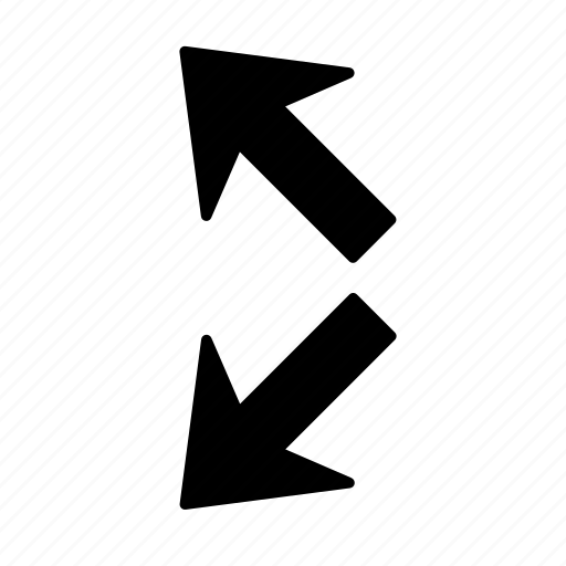 arrow, direction, divide, left, section, splinter, way icon