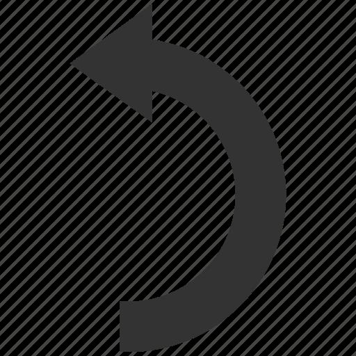 arrow, direction, reload, repeat, rotate left, rotation, undo icon