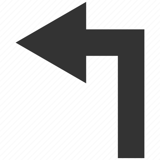 arrow, direction, left, navigation, orientation, pointer, turning icon