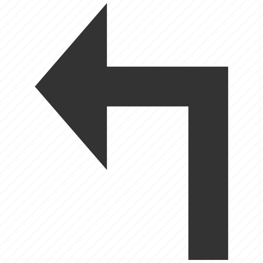 arrow, direction, navigation, orientation, pointer, turn left, undo icon