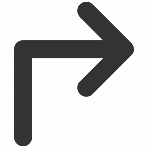arrow, direction, move, navigation, orientation, pointer, turn right icon