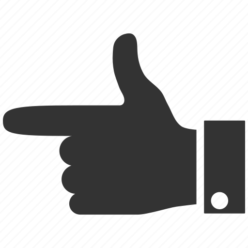 direction, gesture, hand, left, move, point, pointer icon