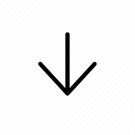 Arrow, down, line icon - Download on Iconfinder