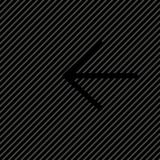 arrow, left, line icon