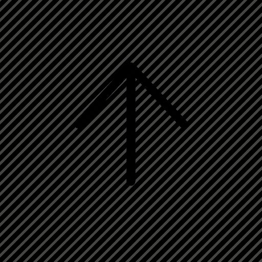 arrow, line, up icon