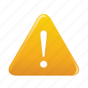 caution, danger, exclamation, mark, sign, triangle icon