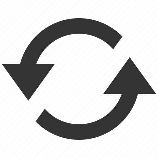 Exchange, refresh arrows, reload, repeat, rotate, rotation, sync icon - Download on Iconfinder