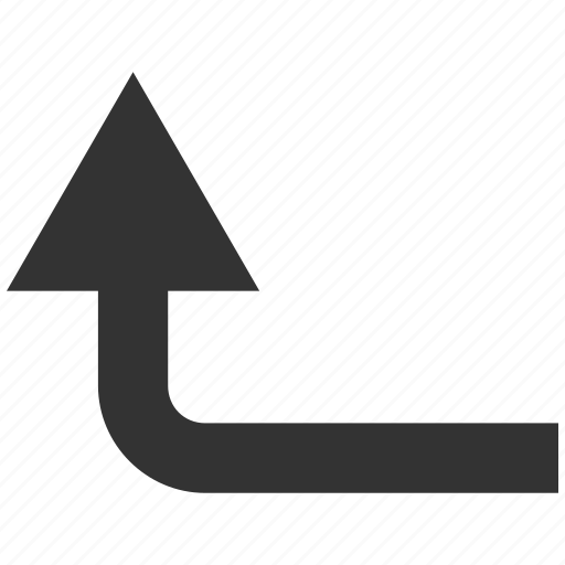 arrow, direction, forward, navigation, turn, turning, up icon
