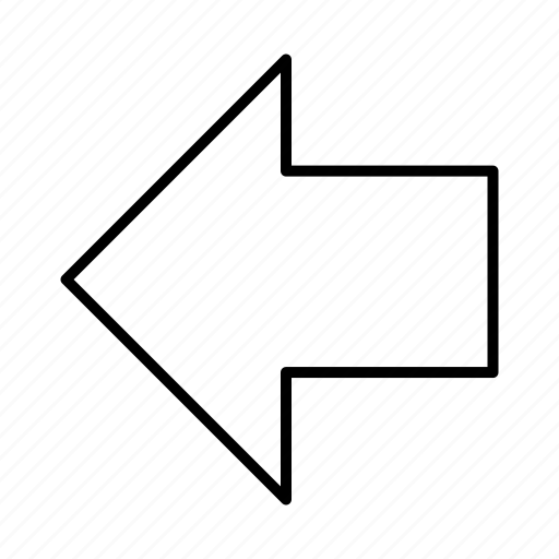 arrow, direction, left, sign icon