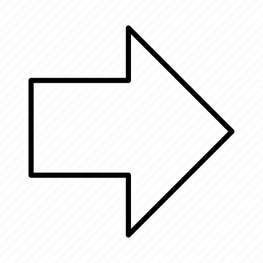 arrow, direction, right, sign icon