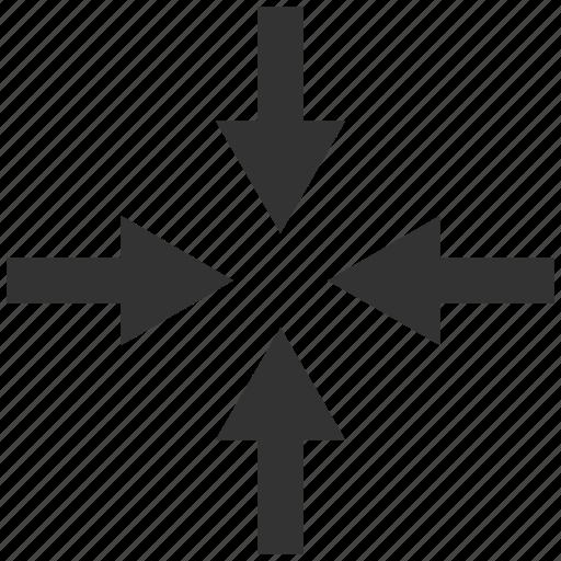 arrow, arrows, compress, compressed, compression, document, file icon