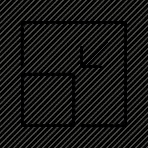arrow, arrows, direction, minimize, move, point, shrink icon