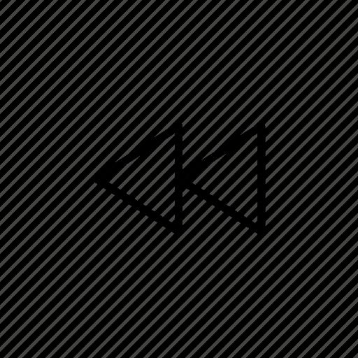 arrow, arrows, direction, last track, move, point, rewind icon
