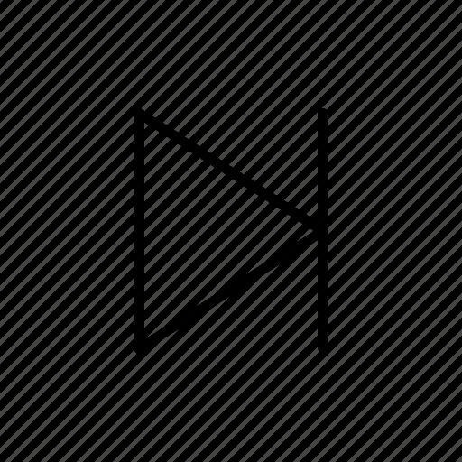 arrow, arrows, direction, move, next track, point, right arrow icon