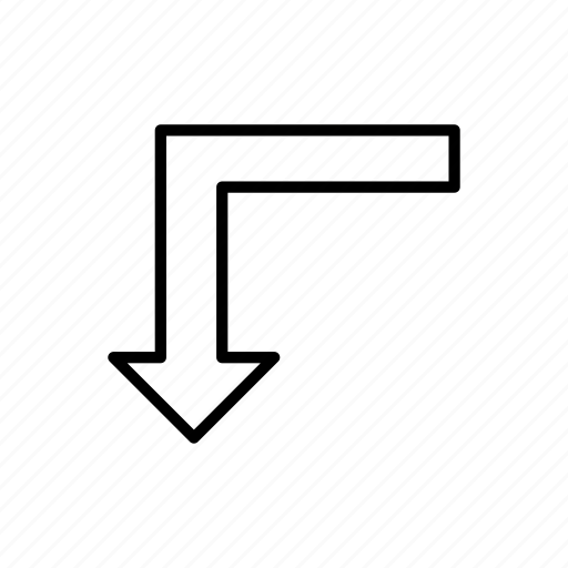 arrow, arrows, direction, move, point, sharp turn, sharp turn arrow icon